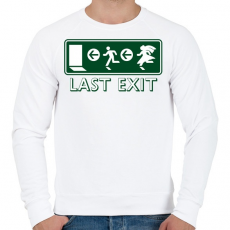 PRINTFASHION last-exit - Férfi pulóver - Fehér