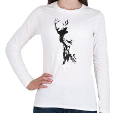 PRINTFASHION Last time I was a deer - Női hosszú ujjú póló - Fehér