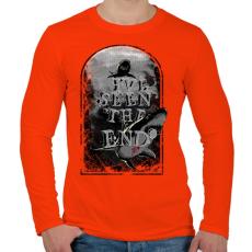 PRINTFASHION Látod a végét - Férfi hosszú ujjú póló - Narancs