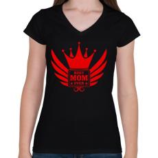 PRINTFASHION Legjobb Anya! - Női V-nyakú póló - Fekete