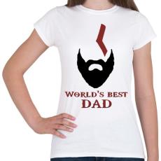PRINTFASHION Legjobb Apa - Női póló - Fehér