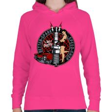 PRINTFASHION Legjobb szikra - Női kapucnis pulóver - Fukszia