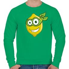 PRINTFASHION Lemon Hero - Férfi pulóver - Zöld