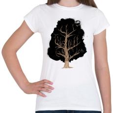PRINTFASHION Let the tree grow - Női póló - Fehér