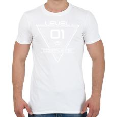 PRINTFASHION level-complete-01-white - Férfi póló - Fehér