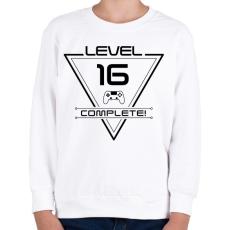 PRINTFASHION level-complete-16-black - Gyerek pulóver - Fehér