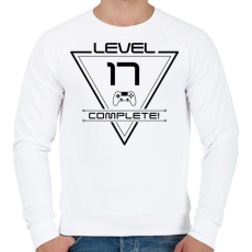 PRINTFASHION level-complete-17-black - Férfi pulóver - Fehér