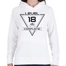 PRINTFASHION level-complete-18-black - Női kapucnis pulóver - Fehér