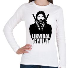 PRINTFASHION Likvidal Gyula - Női hosszú ujjú póló - Fehér