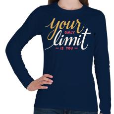PRINTFASHION Limit - Női hosszú ujjú póló - Sötétkék