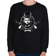 PRINTFASHION Lincoln - Vámpírvadász - Gyerek pulóver - Fekete