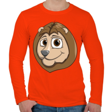 PRINTFASHION Lion - Férfi hosszú ujjú póló - Narancs