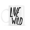 PRINTFASHION Live Wild - Bögre - Fehér