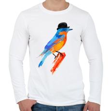 PRINTFASHION Lord bird - Férfi hosszú ujjú póló - Fehér