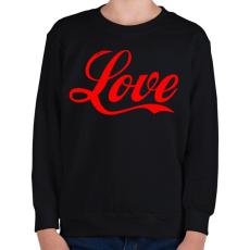 PRINTFASHION Love - Gyerek pulóver - Fekete