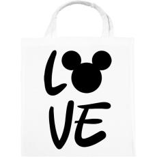 PRINTFASHION Love Mickey - Vászontáska - Fehér