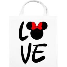 PRINTFASHION Love Minnie - Vászontáska - Fehér