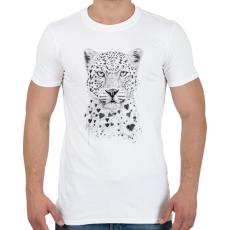 PRINTFASHION Lovely leopard - Férfi póló - Fehér