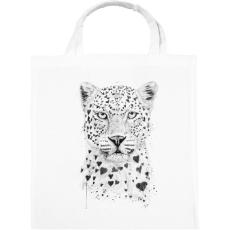 PRINTFASHION Lovely leopard - Vászontáska - Fehér