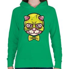 PRINTFASHION Macskamaszk - Női kapucnis pulóver - Zöld