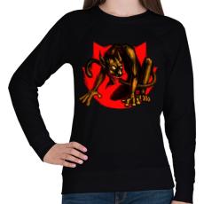 PRINTFASHION Macskaszörny - Női pulóver - Fekete