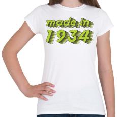 PRINTFASHION made-in-1934-green-grey - Női póló - Fehér