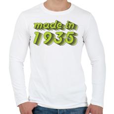 PRINTFASHION made-in-1935-green-grey - Férfi hosszú ujjú póló - Fehér