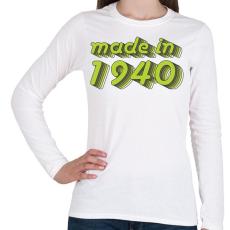 PRINTFASHION made-in-1940-green-grey - Női hosszú ujjú póló - Fehér