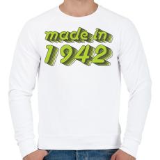 PRINTFASHION made-in-1942-green-grey - Férfi pulóver - Fehér