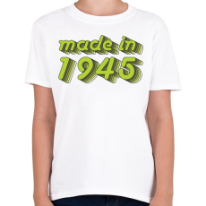 PRINTFASHION made-in-1945-green-grey - Gyerek póló - Fehér