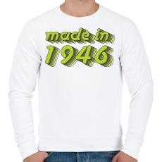 PRINTFASHION made-in-1946-green-grey - Férfi pulóver - Fehér