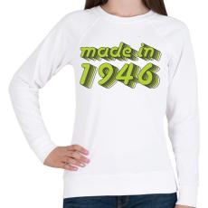 PRINTFASHION made-in-1946-green-grey - Női pulóver - Fehér