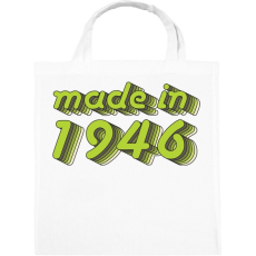 PRINTFASHION made-in-1946-green-grey - Vászontáska - Fehér