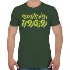 PRINTFASHION made-in-1959-green-grey - Férfi póló - Katonazöld