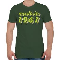 PRINTFASHION made-in-1961-green-grey - Férfi póló - Katonazöld