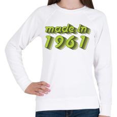 PRINTFASHION made-in-1961-green-grey - Női pulóver - Fehér