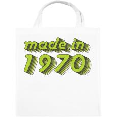PRINTFASHION made-in-1970-green-grey - Vászontáska - Fehér