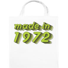 PRINTFASHION made-in-1972-green-grey - Vászontáska - Fehér