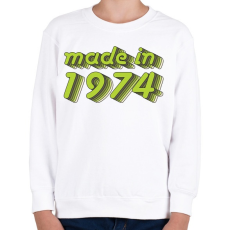PRINTFASHION made-in-1974-green-grey - Gyerek pulóver - Fehér