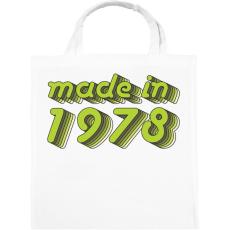PRINTFASHION made-in-1978-green-grey - Vászontáska - Fehér