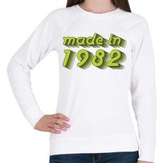 PRINTFASHION made-in-1982-green-grey - Női pulóver - Fehér