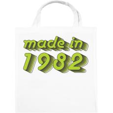 PRINTFASHION made-in-1982-green-grey - Vászontáska - Fehér