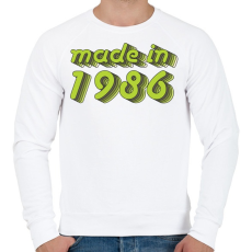 PRINTFASHION made-in-1986-green-grey - Férfi pulóver - Fehér
