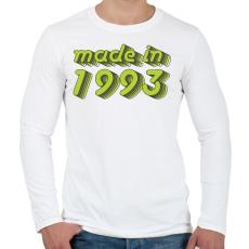 PRINTFASHION made-in-1993-green-grey - Férfi hosszú ujjú póló - Fehér