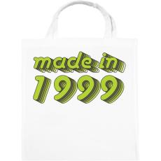 PRINTFASHION made-in-1999-green-grey - Vászontáska - Fehér