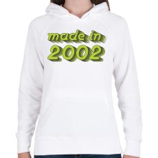 PRINTFASHION made-in-2002-green-grey - Női kapucnis pulóver - Fehér