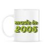 PRINTFASHION made-in-2005-green-grey - Bögre - Fehér