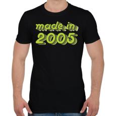 PRINTFASHION made-in-2005-green-grey - Férfi póló - Fekete