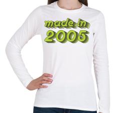 PRINTFASHION made-in-2005-green-grey - Női hosszú ujjú póló - Fehér női póló