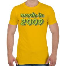 PRINTFASHION made-in-2009-green-grey - Férfi póló - Sárga